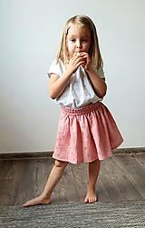 """Detské oblečenie - Detská sukňa """"RUŽOVÝ VÁNOK"""" - so zlatou potlačou púpav - 13230824_"""
