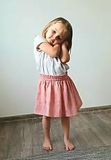 """Detské oblečenie - Detská sukňa """"RUŽOVÝ VÁNOK"""" - so zlatou potlačou púpav - 13230826_"""