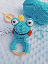 Hračky - Hrkálka žabka - 13231302_