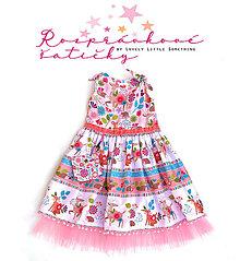 """Detské oblečenie - Rozprávkové šatičky """"Jar v lese"""" 128 cm - 13229711_"""