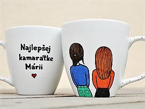 Nádoby - Maľovaný hrnček pre sestru/kamarátku (2 postavičky + kratší text) - 13232060_