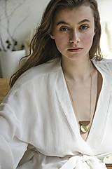 Náhrdelníky - Výrazný náhrdelník/ˈhaptɪk/ orech+mosadz - 13230445_