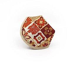 Rúška - Návlek na respirátor - Červený dekor - 13231799_