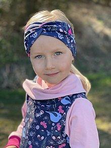Detské oblečenie - Prekrížená úpletová čelenka Ptáčik - 13231532_