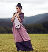 Šaty - Lněné šaty Mauve (M) - 13231222_