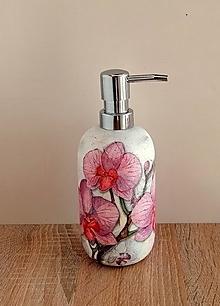 Nádoby - dávkovač na mydlo orchidea - 13230690_