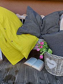 Úžitkový textil - Posteľné obliečky Black & Yellow - 13230634_
