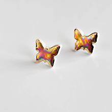Náušnice - Motýli porcelánové náušnice - 13232560_