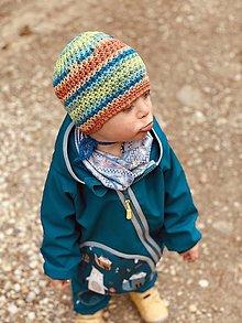 Detské čiapky - Jarná čiapka - Farbička, vhodná aj pre malé Onkoláčičky a malých Onkoláčikov 😍 - 13233010_