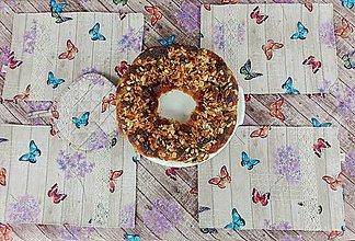 Úžitkový textil - Motýle - obrus, prestiehanie, podložka - 13234801_