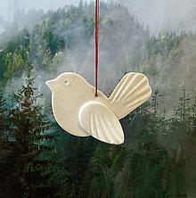 Dekorácie - Jarný vtáčik na zavesenie, menší. - 13233239_