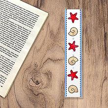 Papiernictvo - Záložka do knižky watercolour seasons - leto (lastúry a hviezdice) - 13232975_