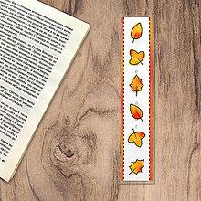 Papiernictvo - Záložka do knižky watercolour seasons - jeseň (lístie) - 13232979_