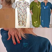 Šaty - Ľanové Šaty s Vreckami /4 farby/ - 13237085_