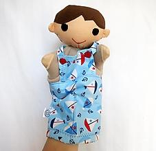 Hračky - Maňuška chlapec - v námorníckych nohaviciach - 13235851_