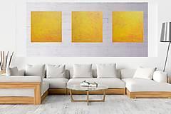Obrazy - Dotyk slnka - XXL trojdielny minimalistický abstract - 13235539_