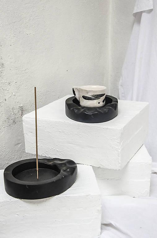 SET mini podnos na šálku + držiak na vonnú tyčinku