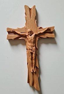 Dekorácie - Drevorezba Kríž  - 13237047_