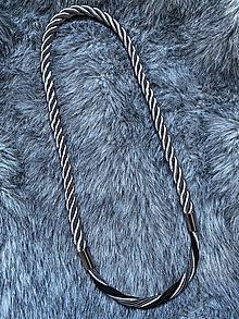 Náhrdelníky - Černá, šedá & stříbrná - 13235039_