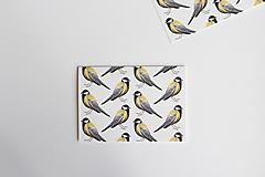 Papiernictvo - Akvarelová pohľadnica | ilustrácia Sýkorky - 13237121_