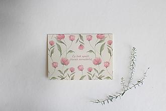 Papiernictvo - Svadobná pohľadnica Čo Boh spojil   akvarelová botanická ilustrácia pivónie - 13237152_