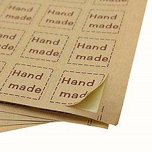 Papier - Nálepka Hand made - 20 ks - 13235266_