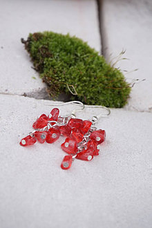 Náušnice - Náušnice zo sklenených zlomkov - 13237443_