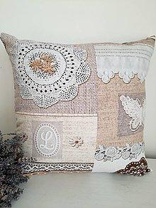 Úžitkový textil - ...vankúšik madeira, čipka... - 13235007_