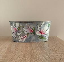Nádoby - plechový vintage  kvetináč - 13235650_