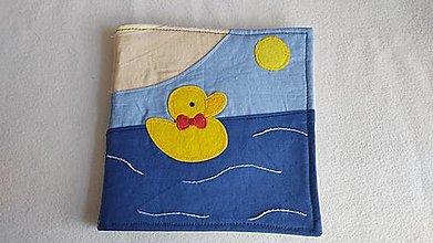 Hračky - Roztomilé káčatko - textilná knižka - 13240222_
