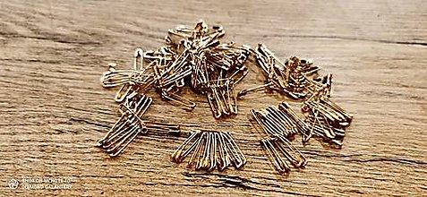 Galantéria - Zicherky 19 mm - zlaté - 13240908_