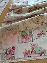 Úžitkový textil - Obrus -štóla love - 13240437_