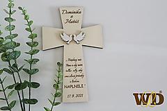 Dekorácie - Krížik na manželskú prísahu - 13241210_