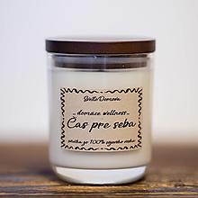 Svietidlá a sviečky - Sviečka zo 100% sójového vosku - Čas pre seba - 13240141_