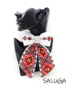 Odznaky/Brošne - Dámsky motýlik - luxusný - folklórny - brošňa - 13240728_
