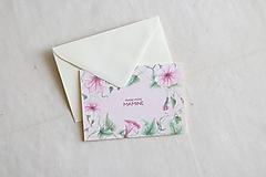 Papiernictvo - Akvarelová pohľadnica pre maminu | botanická ilustrácia Convolvulus - 13238746_