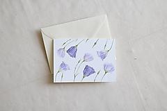 Papiernictvo - Akvarelová pohľadnica | botanická ilustrácia Lisianthus - 13238758_