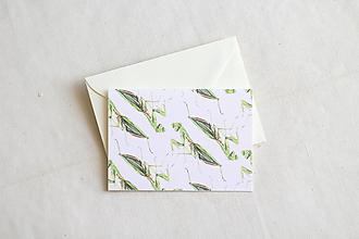 Papiernictvo - Akvarelová pohľadnica   ilustrácia Modlivky - 13238718_