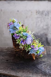 Ozdoby do vlasov - Čelenka - Už kvitnú fialky - 13241127_