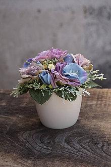 Dekorácie - Malý aranžmán - Ruže vintage - 13241246_