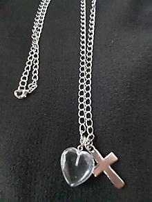 Náhrdelníky - náhrdelník s krištáľom - 13238255_