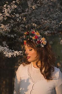 """Ozdoby do vlasov - Kvetinová čelenka/parta """"opojné letné večery"""" - 13240546_"""