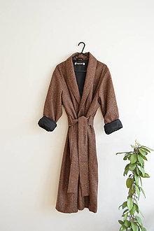 Kabáty - Hrdzavo hnedý kabát - 13238684_