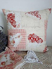 Úžitkový textil - ...vankúšik ružičky... - 13238097_