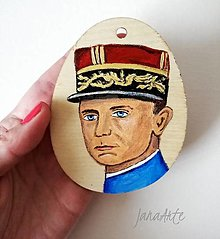 Obrazy - M.R. Štefánik drevené vajíčko obraz - 13240075_