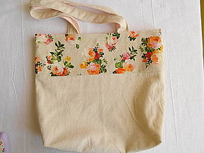 Nákupné tašky - Taška s ružičkami - 13240558_