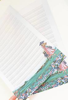 """Papier - Listový papier """"Prechádzka"""" - 13241836_"""