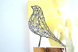 Socha - minimalistický vtáčik * 22 cm - 13238221_