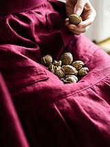 Iné oblečenie - Ľanová zástera s volánom - 13240165_