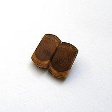 Náušnice - Drevená náušnice klipsňové - zo špaltovanej brestovej halúzky - 13238639_